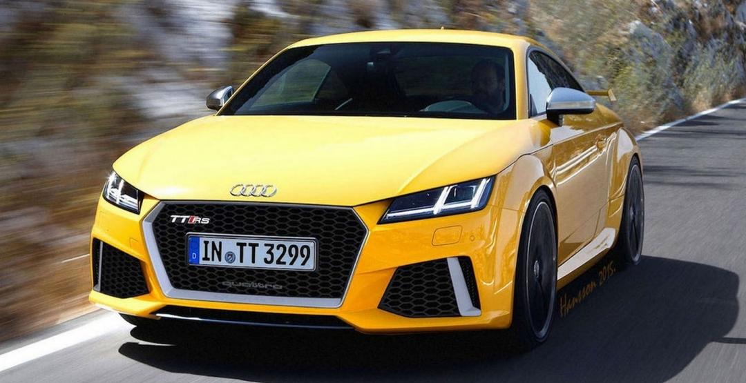 Audi TT RS 2017 года получит мощный пятицилиндровый мотор