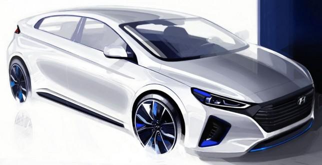 Hyundai показала очередной рендер новой модели Ioniq