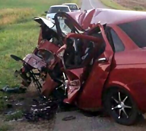 ВСамарской области умер шофёр «Приоры» при столкновении с«Кадиллаком»