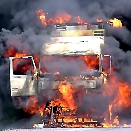 ВоВсеволожском районе взорвался фургон, ранен шофёр
