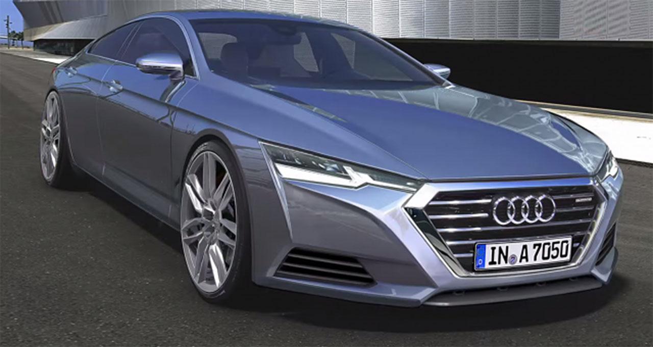 Новый Audi A7 засветился на шпионских снимках