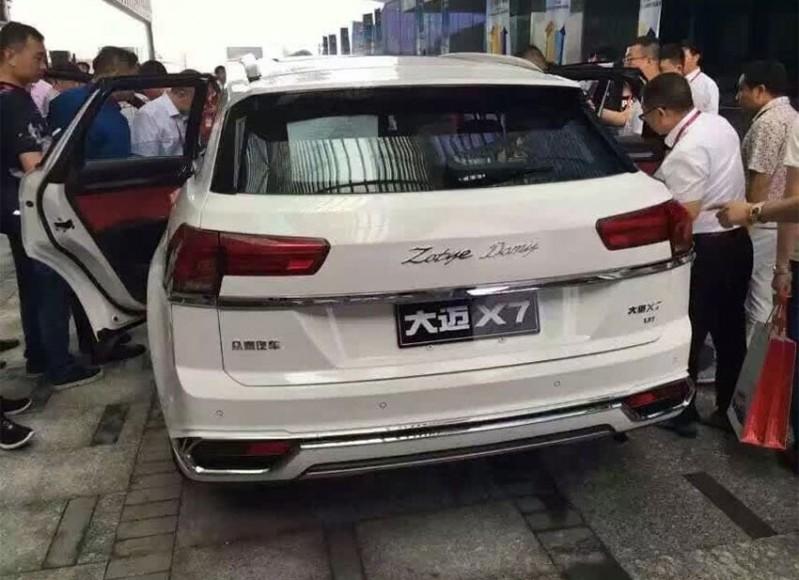 Zotye X7 обстроили новоиспеченной коробкой передач