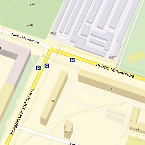 Иностранная машина столкнулась смаршруткой наКондратьевском проспекте вПетербурге