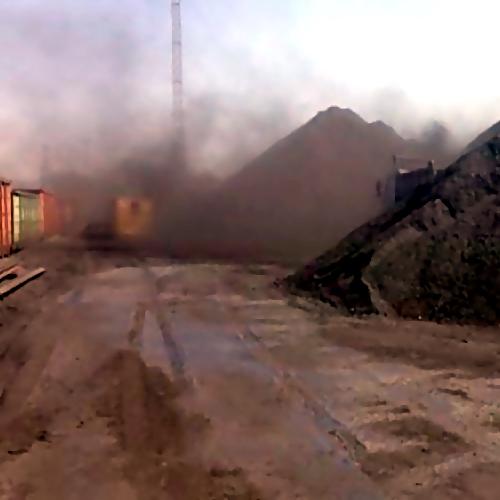 Работа угольного терминала вНаходке остановлена на90 дней