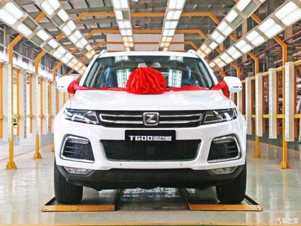 В Китае приступили к производству кроссовера Zotye T600 Sport