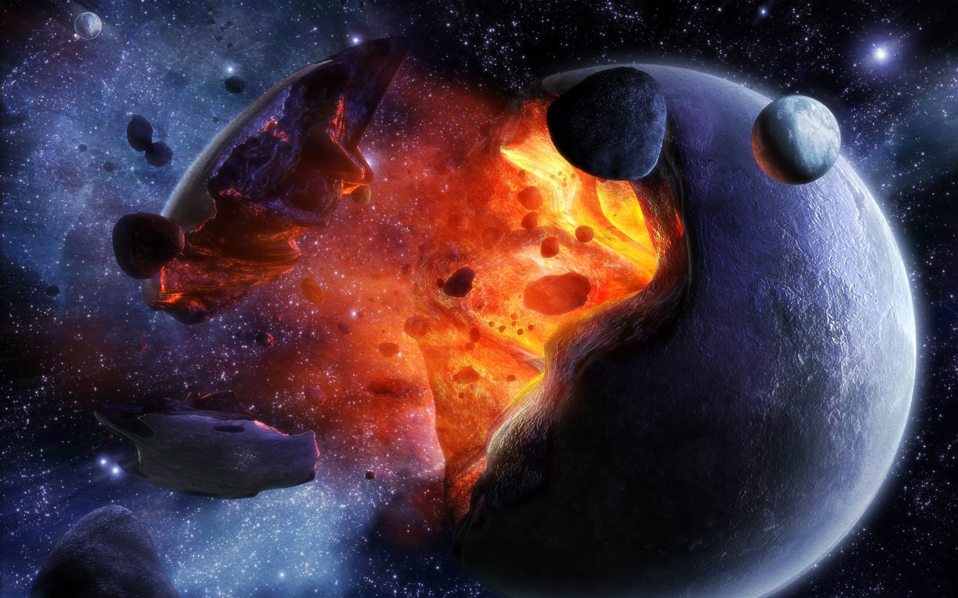 Обои Explosion, взрыв, space, Meteorite, метеорит. Космос foto 10