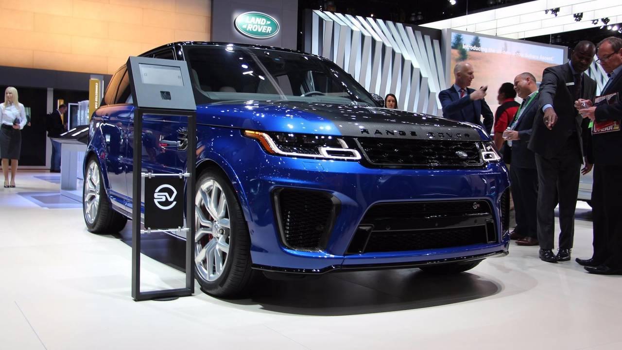 Идет подготовка обновленной версии Range Rover Sport SVR