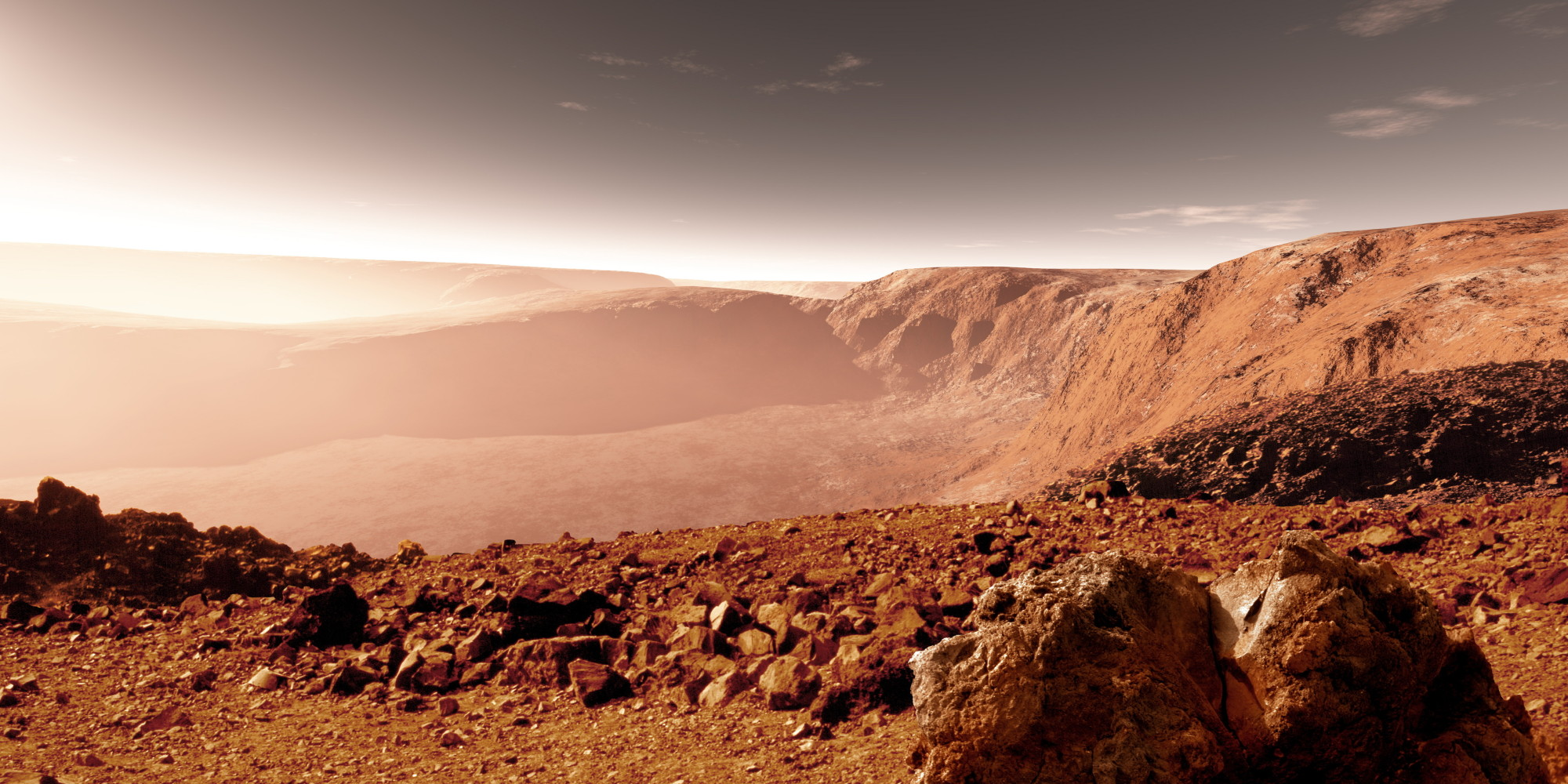 Ученые отыскали источник доисторического цунами наМарсе