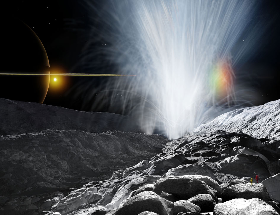 Ученые: наспутнике Сатурна бьют водные гейзеры