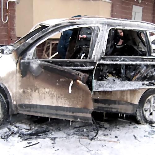 ВДзержинске Нижегородской области неизвестные сожгли дорогостоящую иномарку