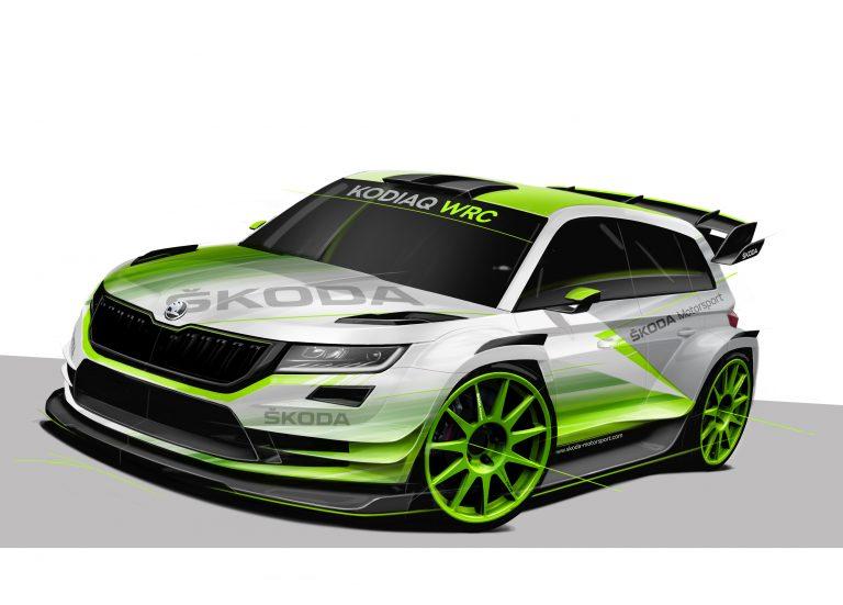 Размещены первые фотографии Шкода Kodiaq WRC 2018 года
