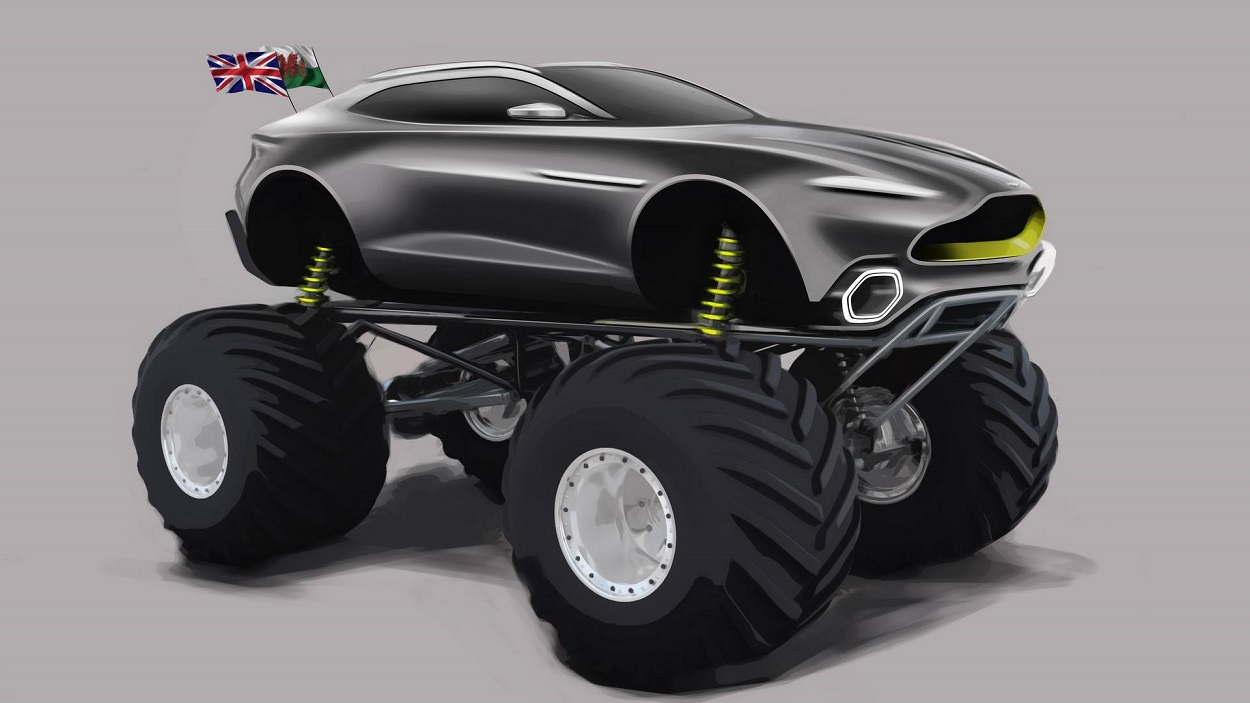 Астон Мартин собрал машину для Monster Jam