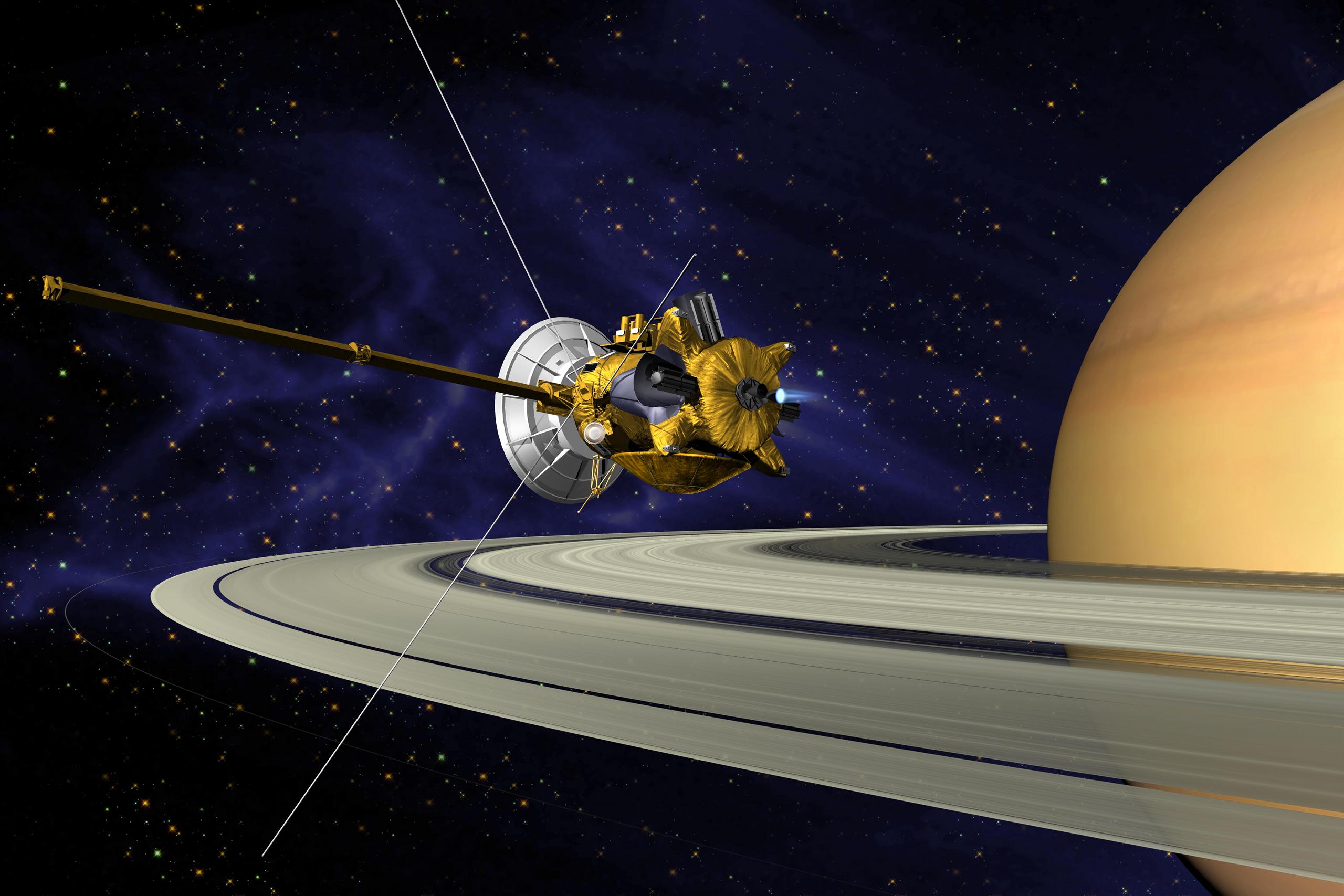 Зонд «Cassini» сгорит на заключительном этапе исследования Сатурна
