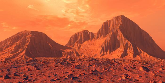 Уфолог отыскал наМарсе маленькое лицо, выглядывающее из-за скалы
