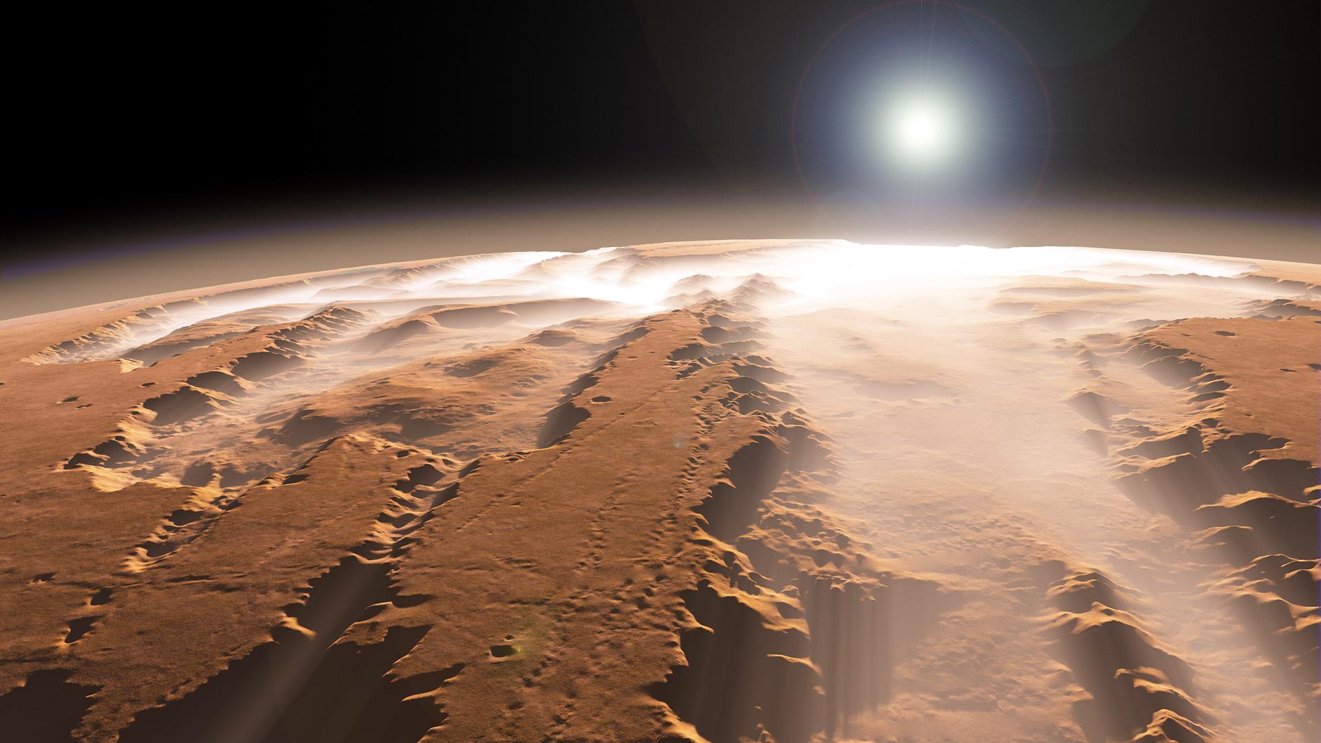 Размещены кадры Марса взимний период
