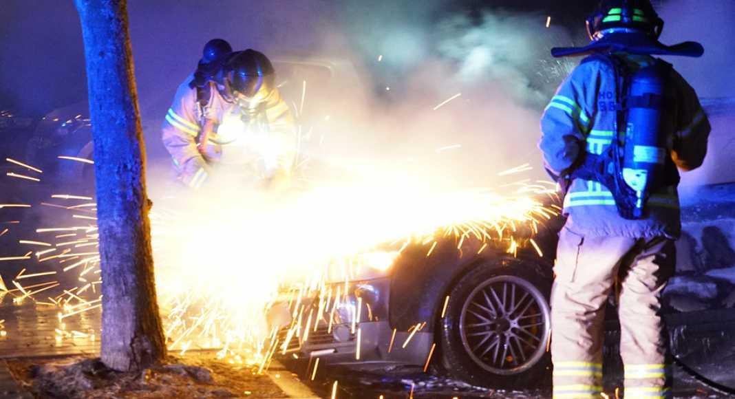 ВОренбурге сгорел автомобиль наулице Тихой