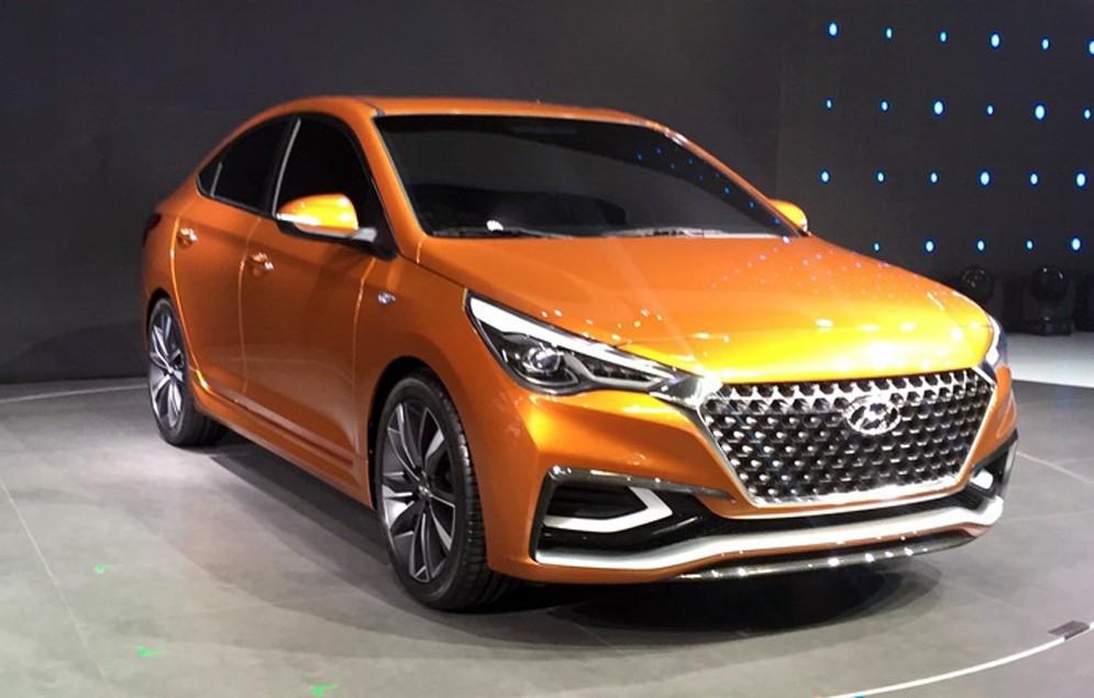 Стал известен внешний вид Hyundai Solaris