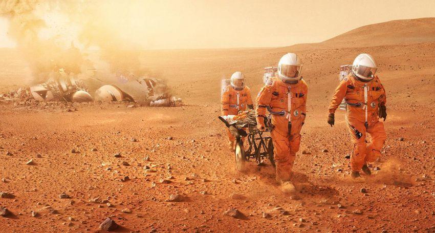 Учёные предложили сделать наМарсе озеро при помощи астероида