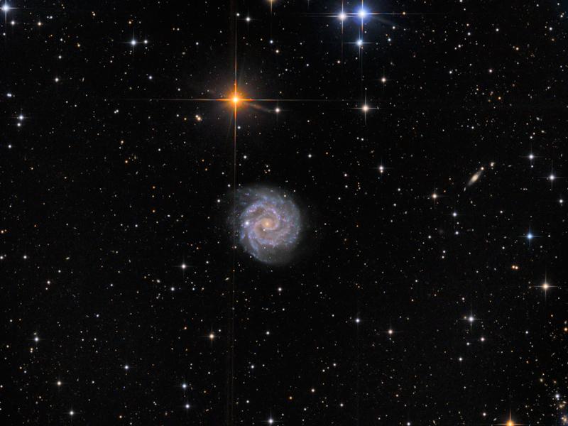Гражданин Новосибирска сфотографировал новейшую галактику сголубыми звездами