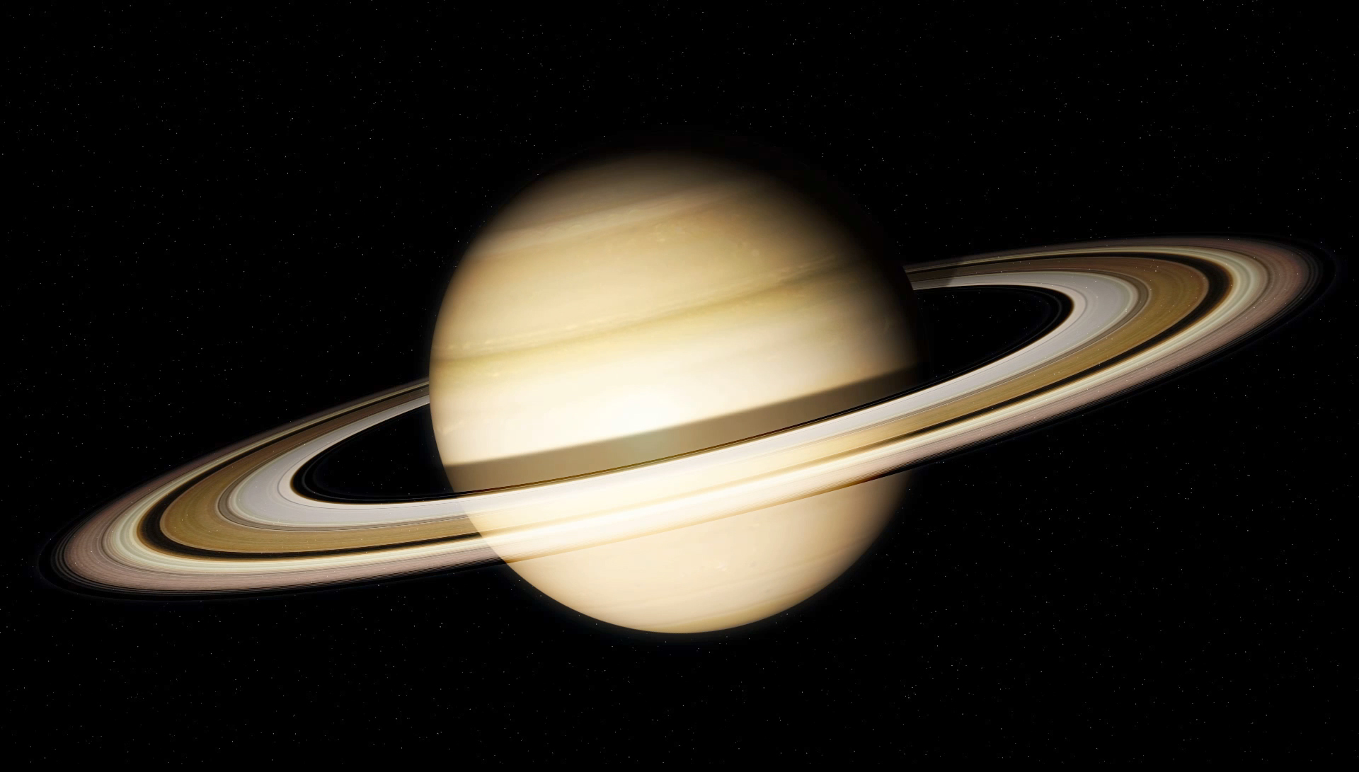 NASA опубликовало снимок Cassini тени Сатурна наего кольцах
