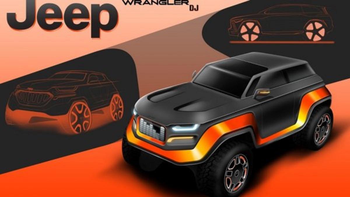 Дизайн Jeep Wrangler 2030 года показали наэскизах