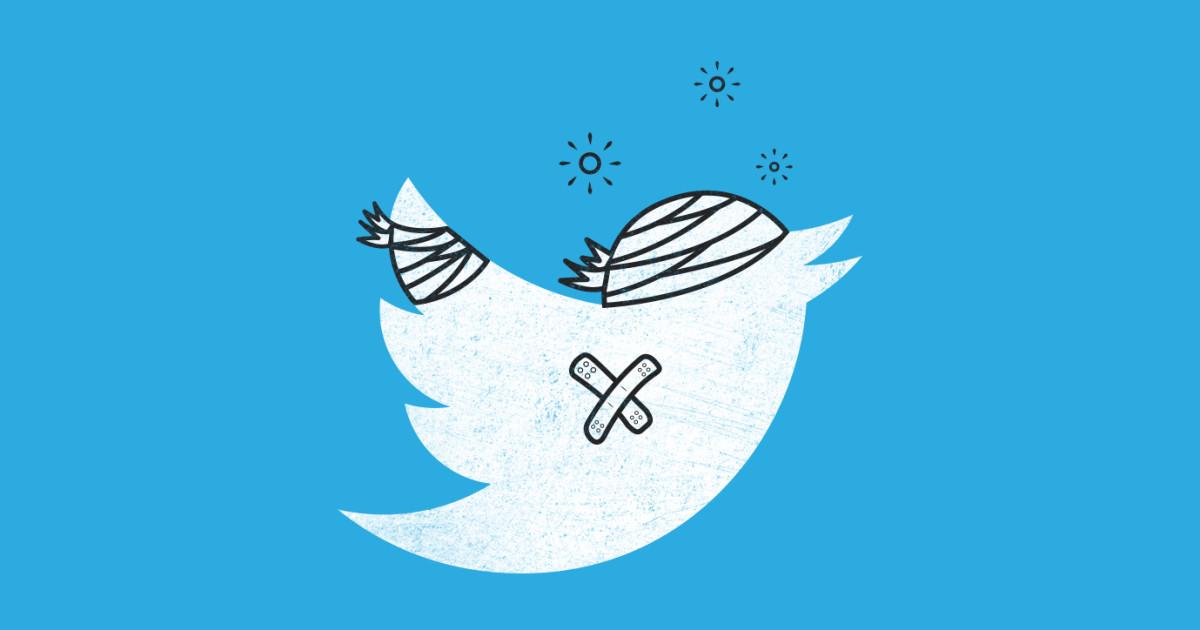 Вработе Твиттер произошел сбой