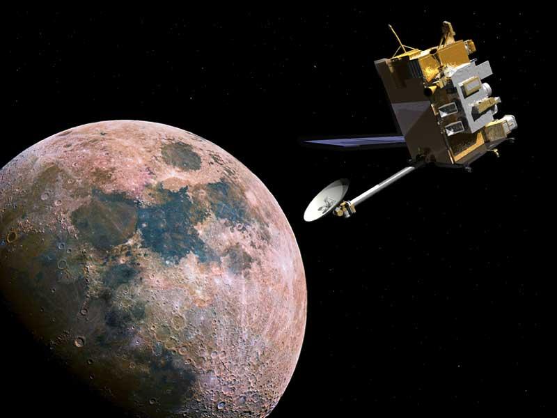 Влунный аппарат NASA соскоростью пули влетел осколок метеорита