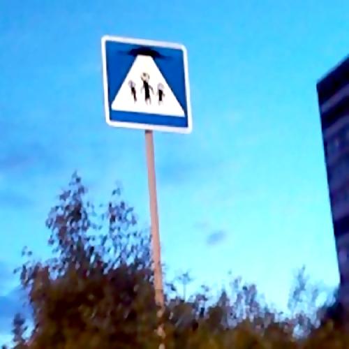ВНогинске появился дорожный знак присутствия НЛО врайоне Заречье