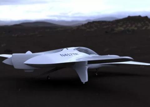 Компания DeLorean Aerospace представила проект летающего автомобиля