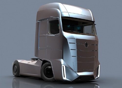 Московский дизайнер создал концептуальный автомобиль  электрогрузовика наоснове оригами