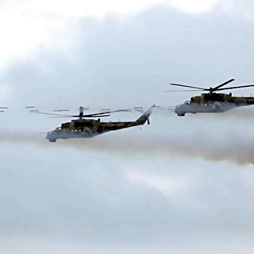 НаСтаврополье потревоге подняты ввоздух два десятка военных вертолетов