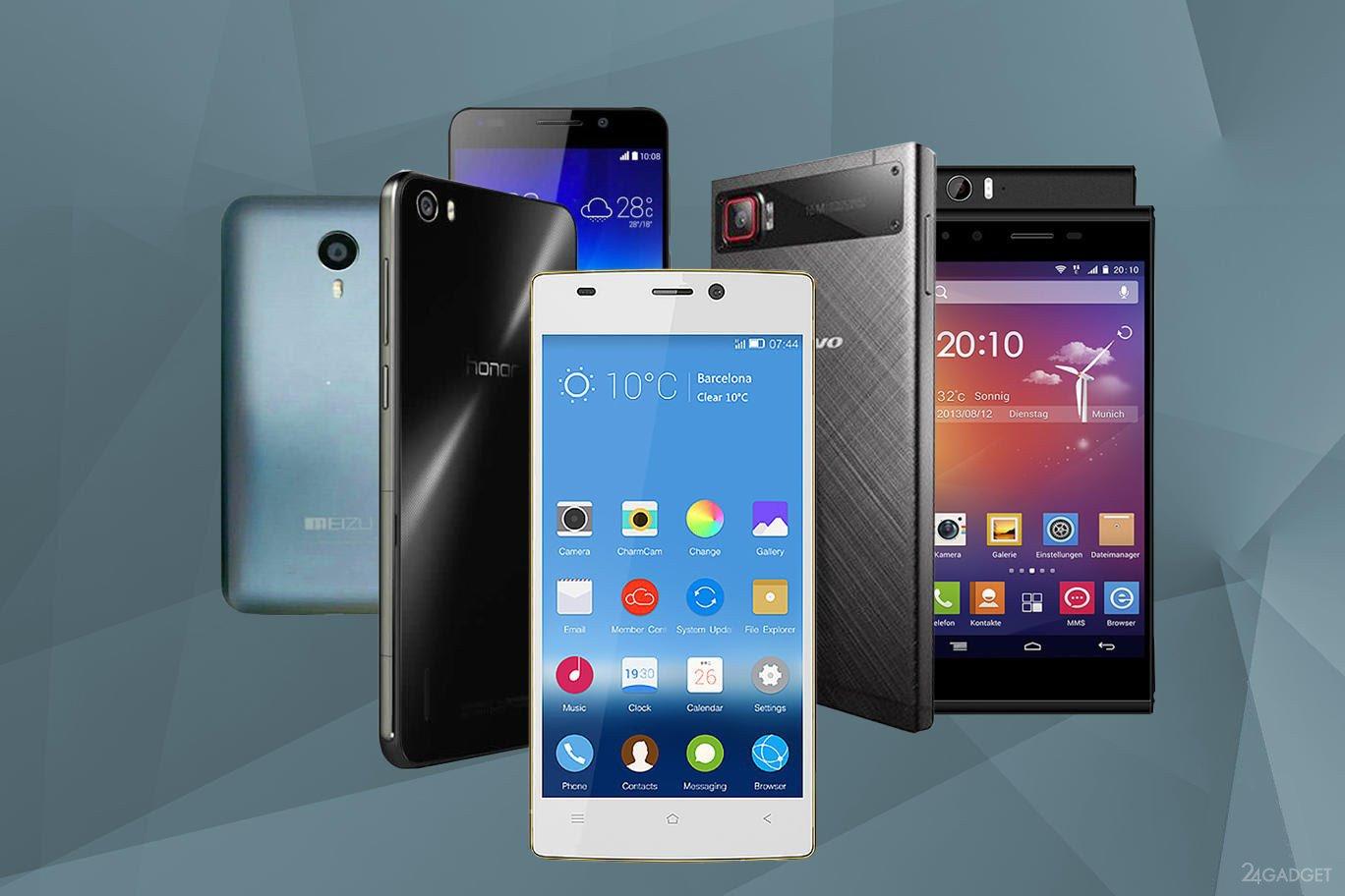 Китайские производители завоевывают мировой рынок смартфонов