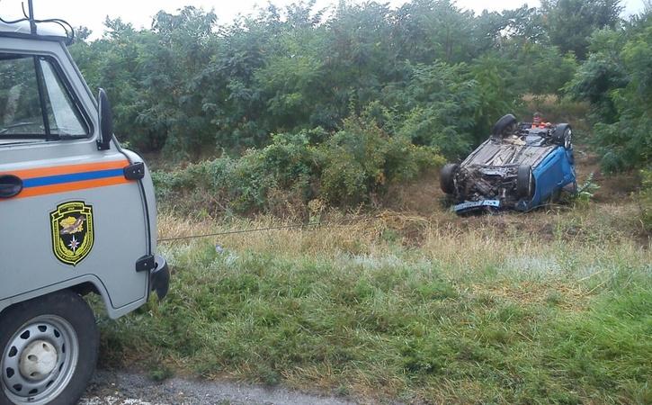 Форд вылетел с дороги иперевернулся наСтаврополье, 2 погибли
