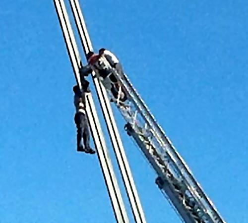 ВЧереповце мужчина хотел покончить ссобой, взобравшись наванты Октябрьского моста