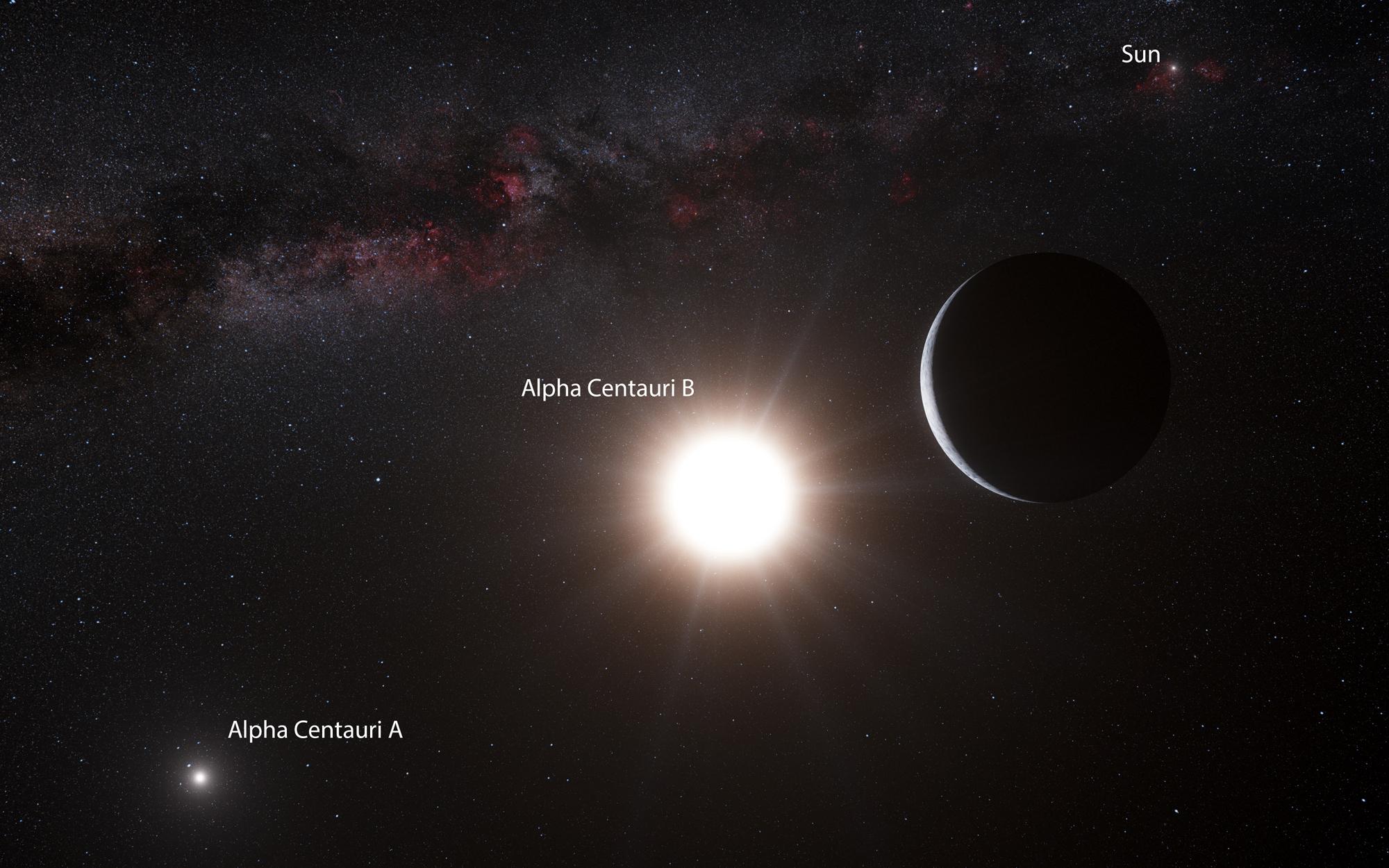 Всистеме Альфа Центавра найдена планета земного типа