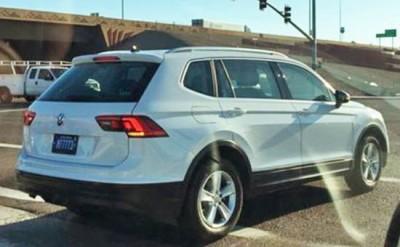 VW замаскировал TiguanXL под Киа Sportage