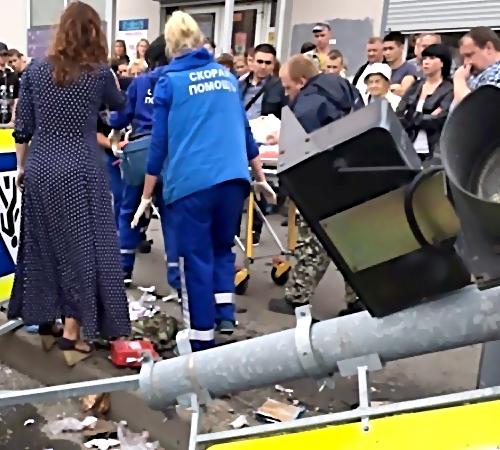 ВКалининском районе иностранная машина сбила пожилую женщину