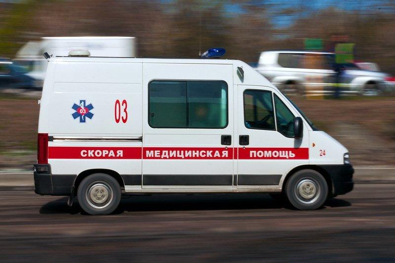 Автомобиль скорой помощи попал вДТП вРостове