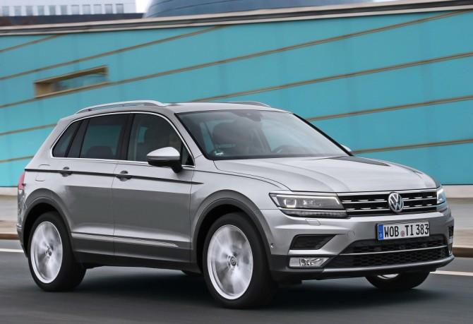 Кроссовер VW Tiguan завоевал лидерство нарынке SUV вевропейских странах
