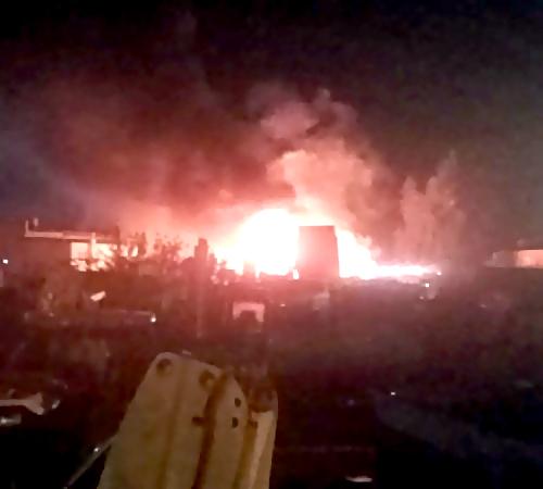 ВЛипецке 4 загоревшиеся фуры тушили 19 пожарных