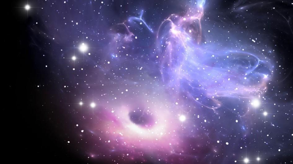 Ученые NASA зафиксировали появление неизвестного объекта изчерной дыры