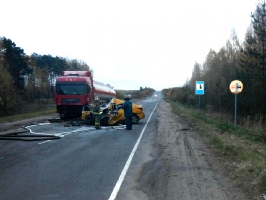 ВКостромской области вДТП сучастием машины такси погибли три человека