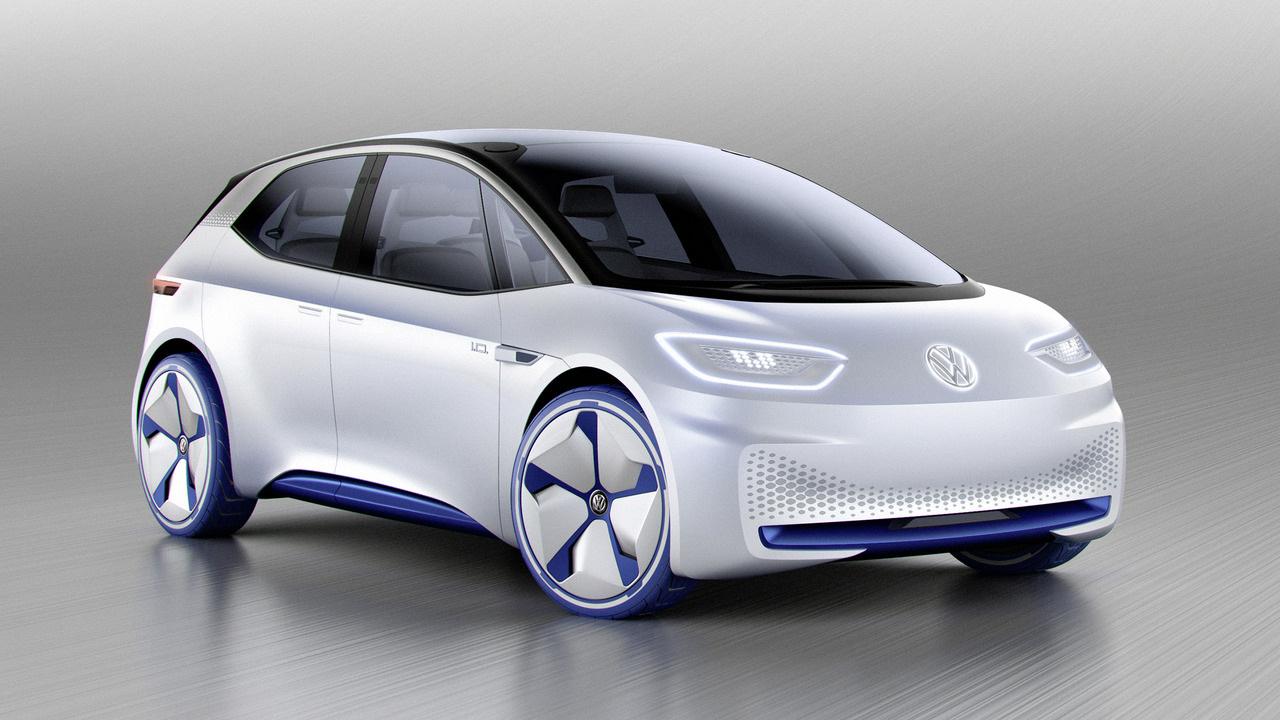 Компания Фольксваген показала концептуальный автомобиль хэтчбека I.D. сэлектродвигателем