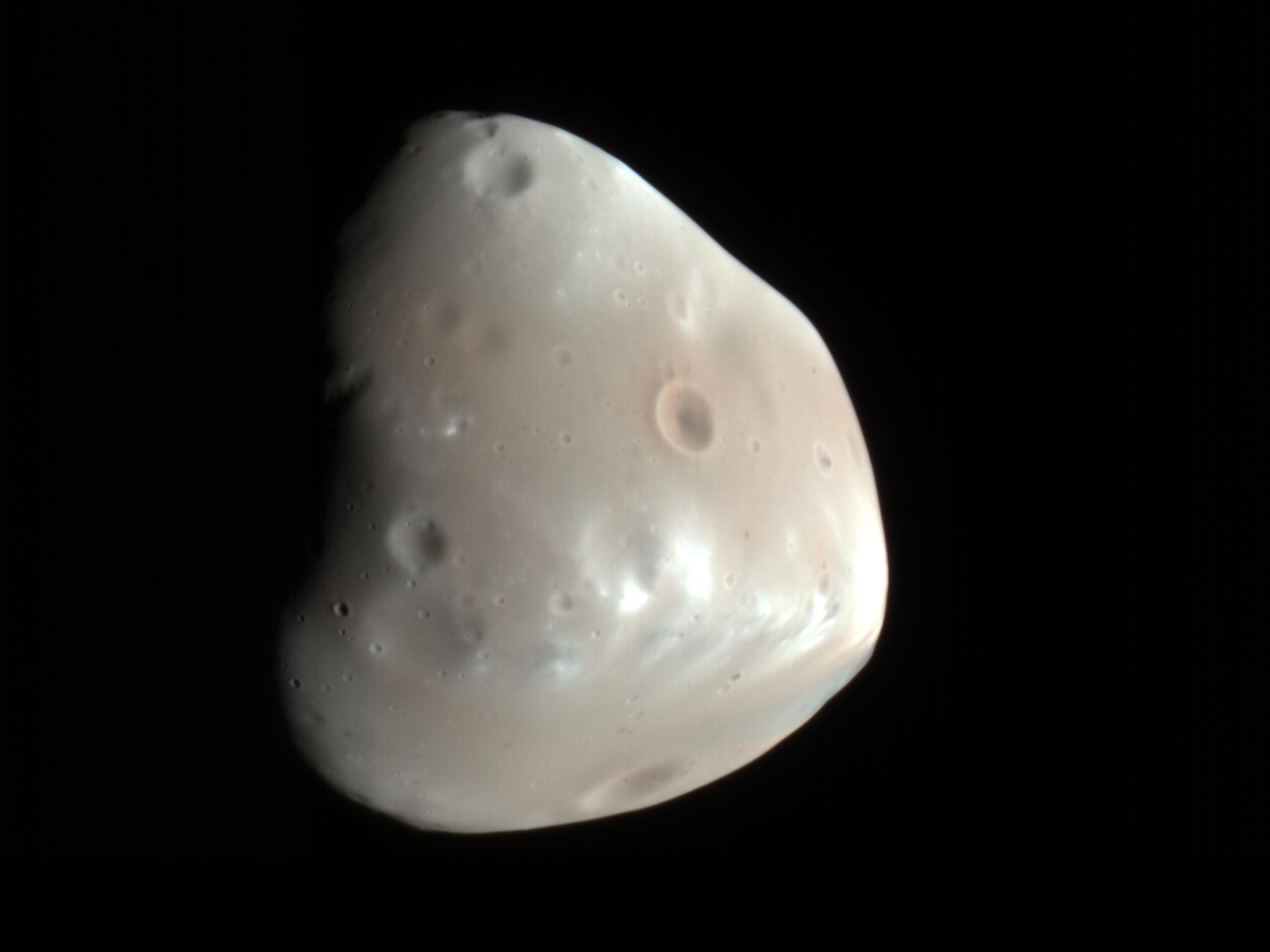Размещено видео, демонстрирующее, как спутник Марса превращается в«Звезду смерти»