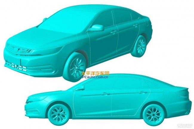 В Сети появились патентные изображения седана Geely Emgrand EC7