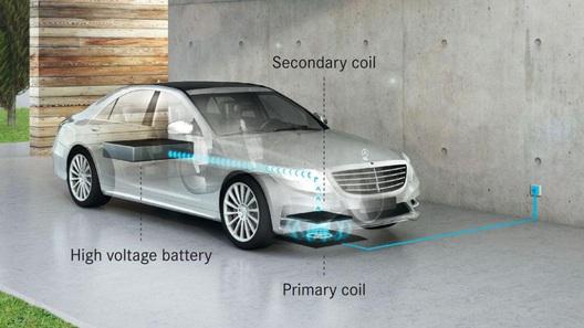 В 2017г. Mercedes анонсирует гибридный автомобиль S500e сбеспроводным аккумулятором