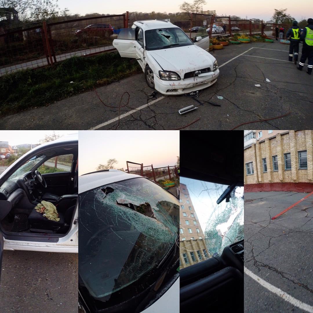 ВоВладивостоке арматура пробила грудь пассажира иномарки