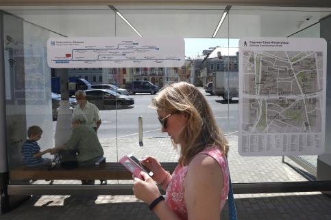 В Москве построят остановки на которых можно выйти в интернет и зарядить гаджеты