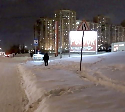 НаСевере Санкт-Петербурга девушка провалилась влюк, засыпанный снегом