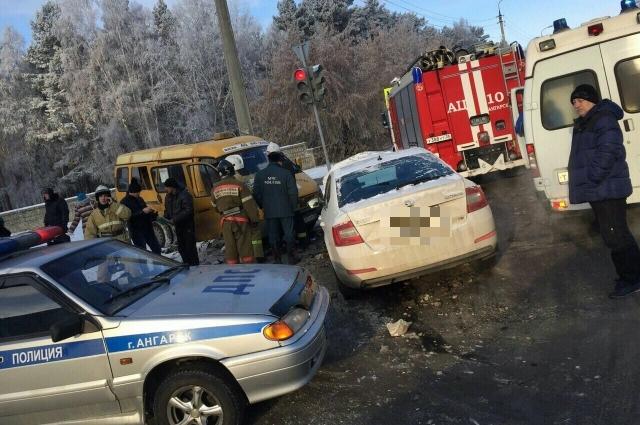 5 человек пострадали вДТП вАнгарске